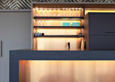 Agencement sur-mesure d'un meuble bar