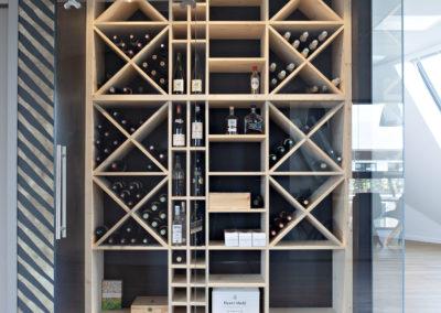 Agencement sur-mesure d'une cave à vin
